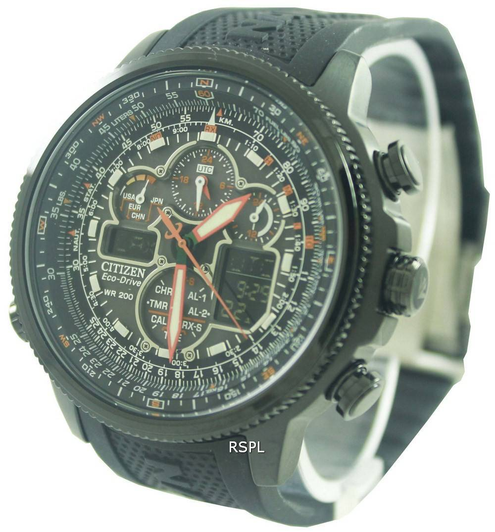 24857b828a1 Citizen Navihawk Eco-Drive Atomic JY8035-04E Mens Watch ...