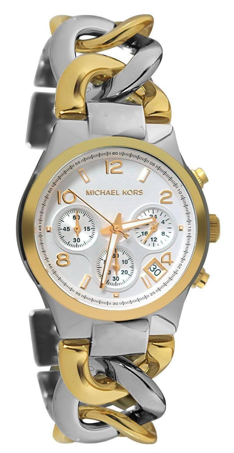 10e52047d7b6a Michael Kors Twist Chain Chronograph MK3199 Womens Watch ...