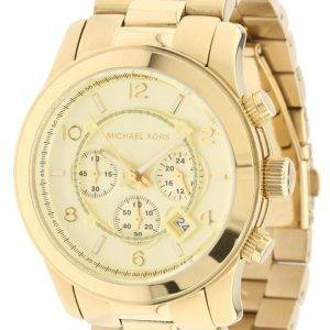 Michael Kors Gold-Tone Runway MK8077 Unisex Watch
