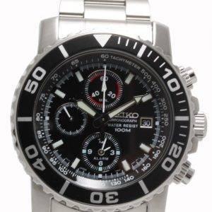 Seiko Alarm Chronograph SNA225P1 SNA225P SNA225 Mens Watch