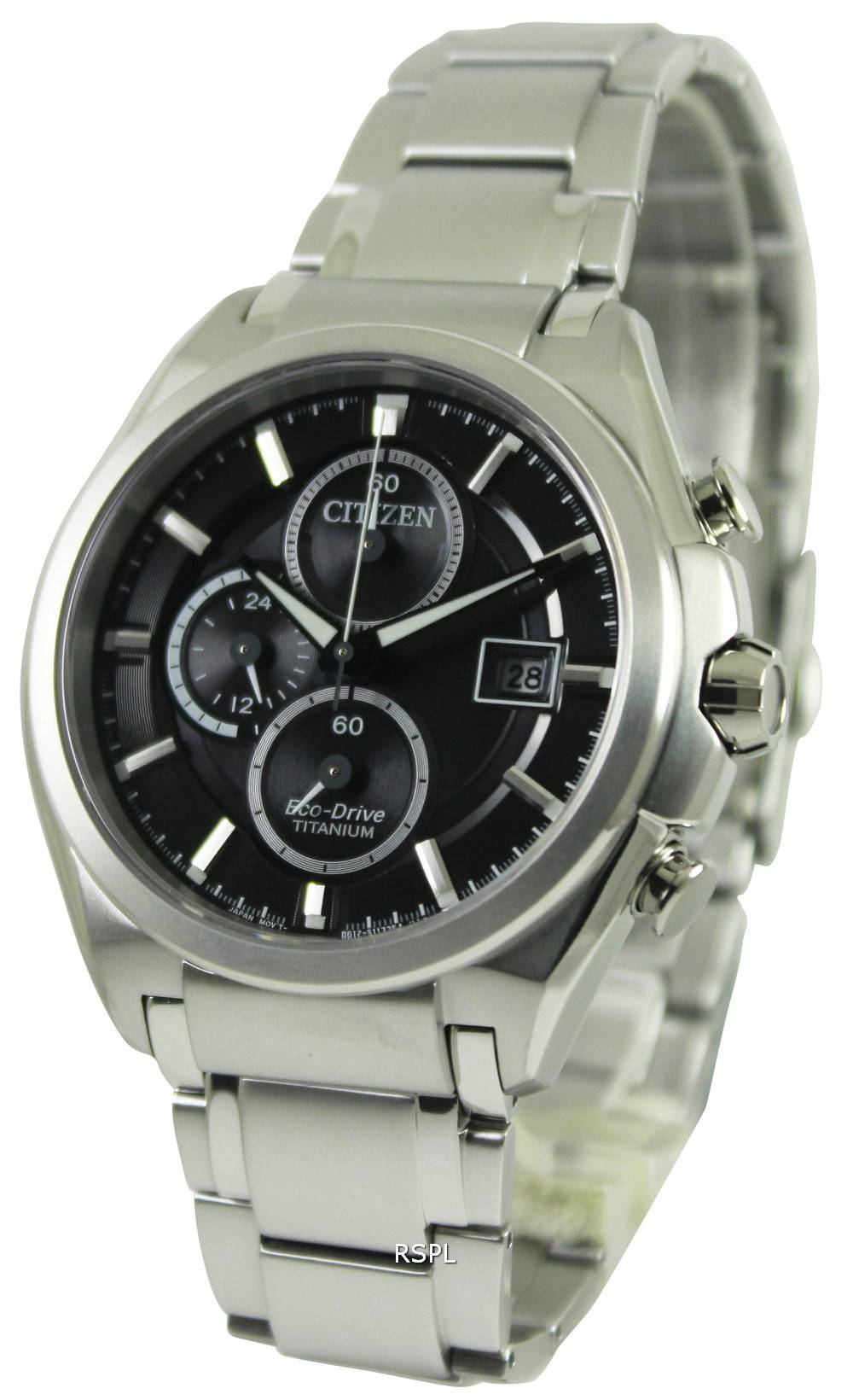 Citizen eco drive super titanium chronograph ca0350 51e mens watch for Titanium watches