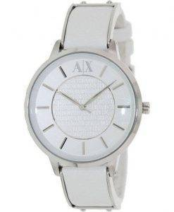 Armani Exchange White Dial White Leather AX5300 Ladies Watch
