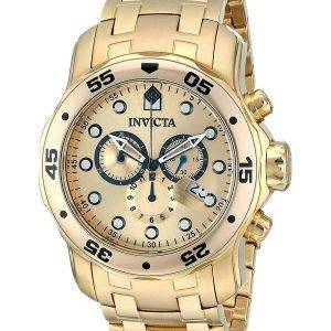 Invicta Pro-Diver Chronograph Gold Dial INV0074/0074 Mens Watch