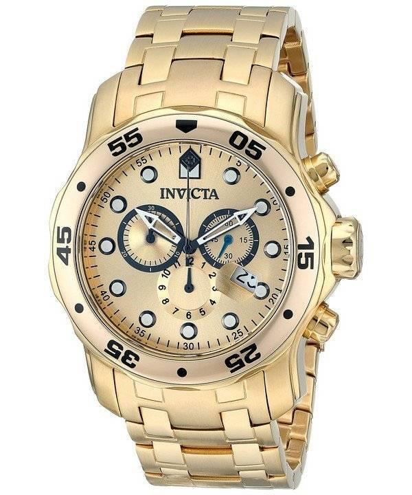 09ab7c1a2 Invicta Pro-Diver Chronograph Gold Dial INV0074/0074 Mens Watch ...