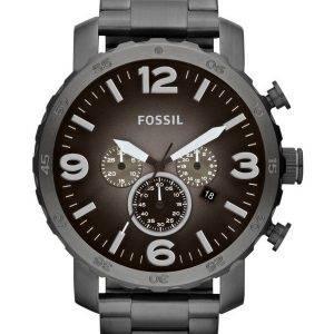 Fossil Nate Chronograph Smoke Grey Dial JR1437 Mens Watch