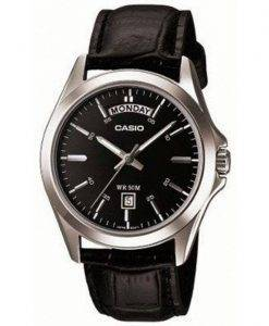 Casio Analog Black Dial MTP-1370L-1AVDF MTP-1370L-1AV Mens Watch