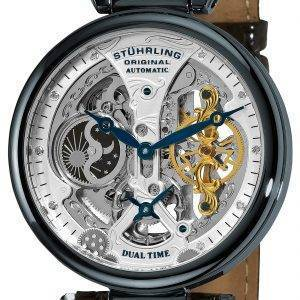 Stuhrling Original Emperor's Grand DT Automatic Dual Time 127A2.33X52 Mens Watch