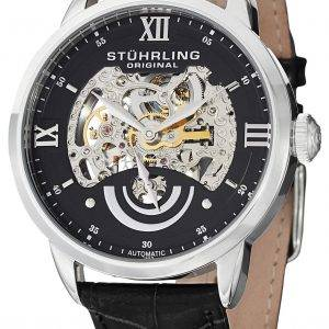 Stuhrling Original Executive II Automatic Black Skeleton Dial 574.02 Mens Watch