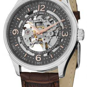 Stuhrling Original Denmark Delphi Automatic Skeleton Grey Dial 730.02 Mens Watch
