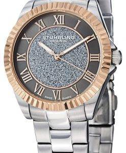 Stuhrling Original Audrey Shimmer Swiss Quartz Rose Tone 743.04 Womens Watch