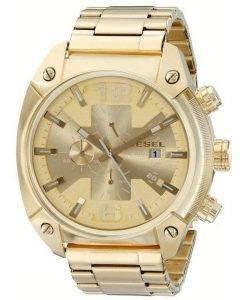 Diesel Overflow Quartz Chronograph Champagne Dial Gold-tone DZ4299 Mens Watch