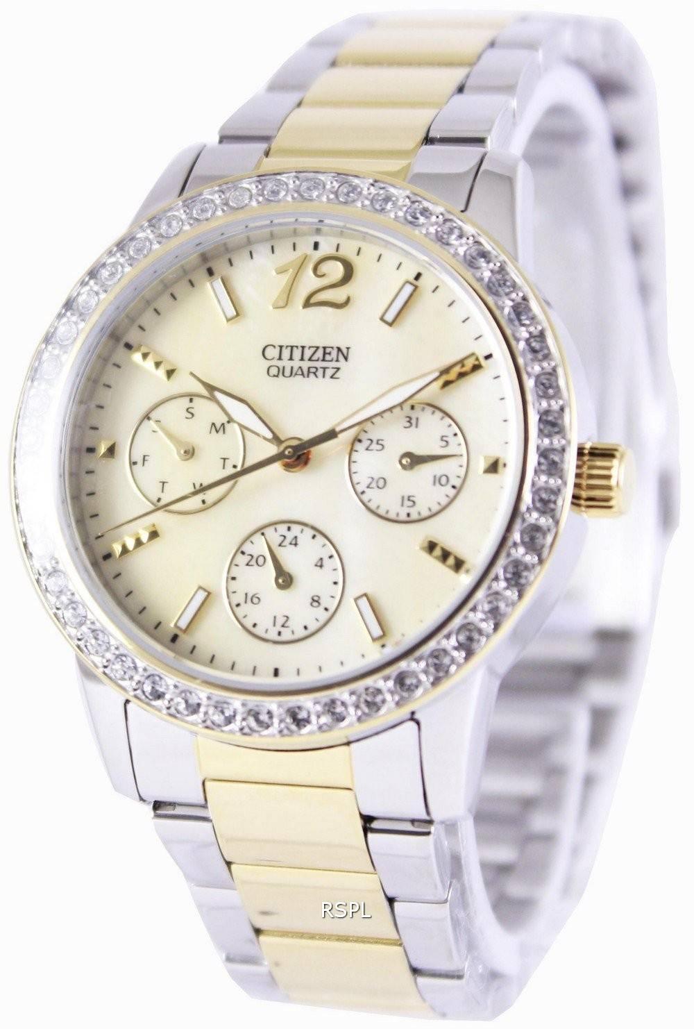 Citizen quartz swarovski crystals ed8094 52n womens watch for Swarovski crystals watch
