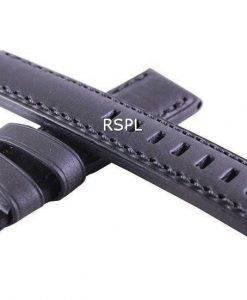 Black Ratio Brand Leather Strap 20mm For SKX007, SKX009, SKX011, SRP497, SRP641