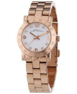 Marc By Marc Jacobs Mini Amy Quartz White Dial Rose Gold Tone MBM3078 Womens Watch