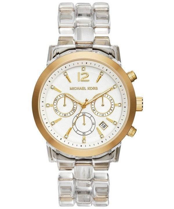a0a3c0ba7d21 Michael Kors Audrina Chronograph Clear Acetate Bracelet MK6200 Womens Watch  - CityWatches.co.nz