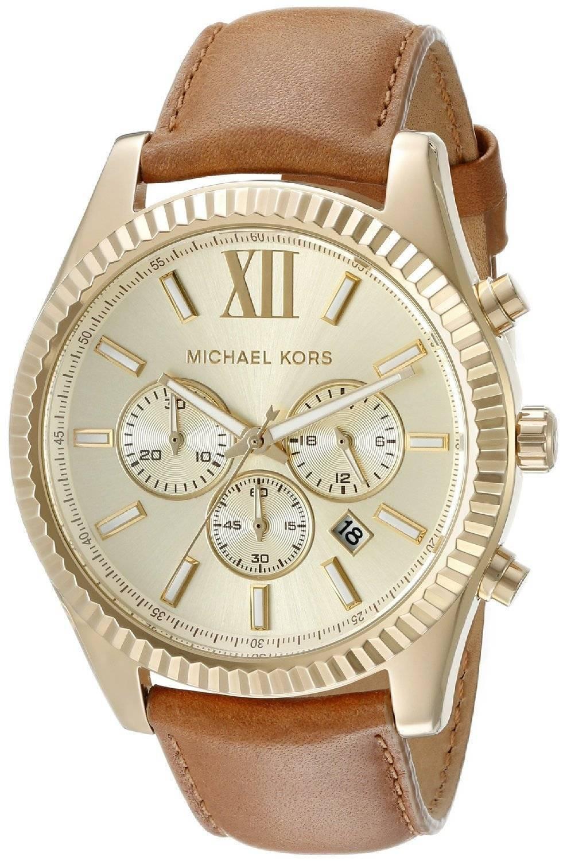 8c054648f101 Michael Kors Lexington Chronograph Gold Dial MK8447 Mens Watch ...
