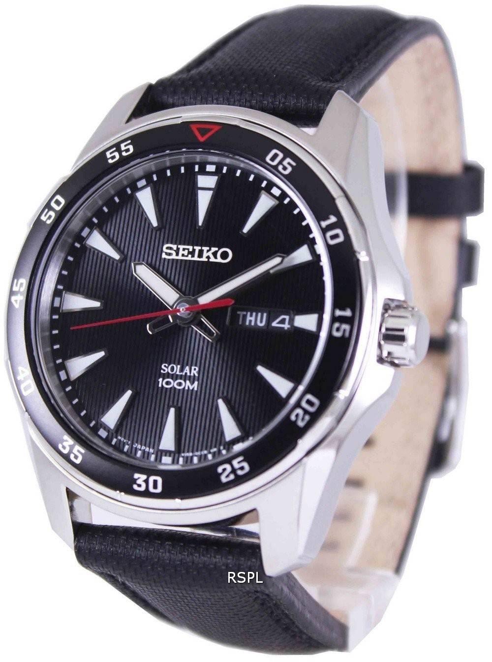 Seiko solar 100m sne393p2 mens watch for Seiko solar