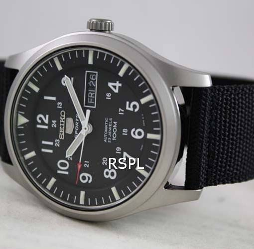 Seiko 5 Mens Automatic 100M SNZG15K1 SNZG15 Sports Watch