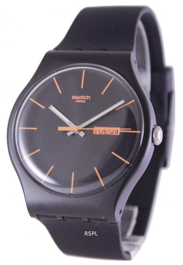 Swatch Originals Dark Rebel Swiss Quartz SUOB704 Unisex Watch