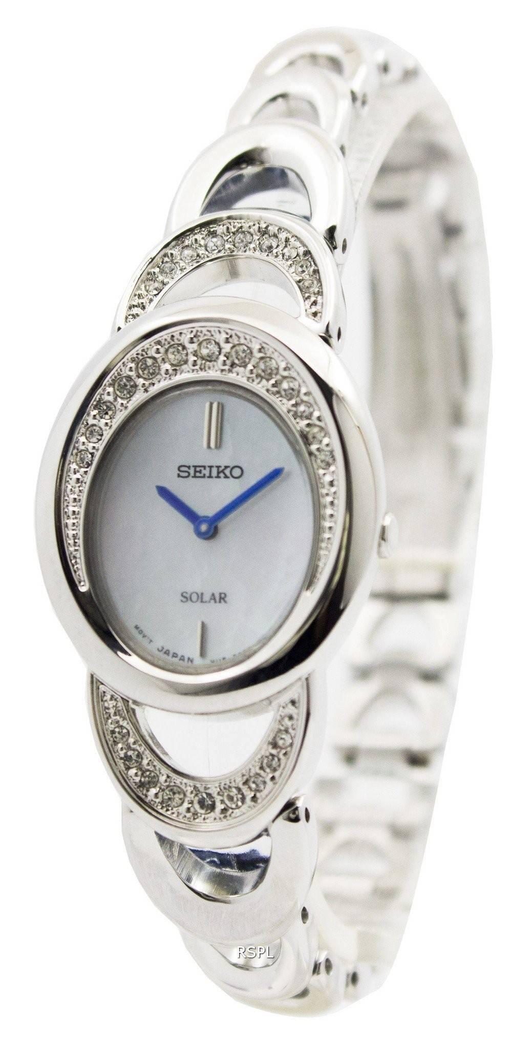 Seiko core solar swarovski crystals sup295p1 sup295p women 39 s watch for Swarovski crystals watch