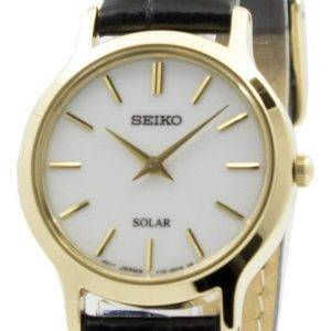 Seiko Solar White Dial Leather Strap SUP300P1 SUP300P Womens Watch