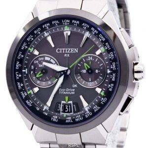 Citizen Eco-Drive Attesa Titanium Satellite Wave Air GPS 100M CC1086-50E Mens Watch