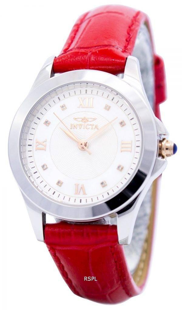 Invicta Angel Diamond-Accented Quartz Leather Strap 12544 Women's Watch