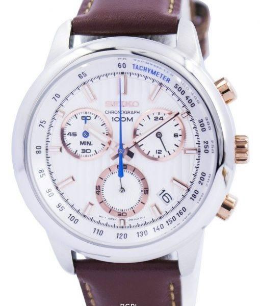 Seiko Chronograph Quartz Tachymeter SSB211P Men's Watch