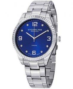Stuhrling Original Allure Diamonds Swiss Quartz 607G.03 Mens Watch