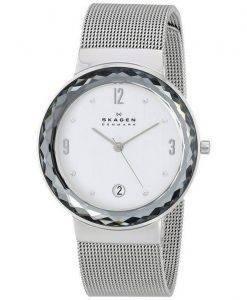 Skagen Leonora Quartz Steel Mesh Crystals SKW2004 Women's Watch