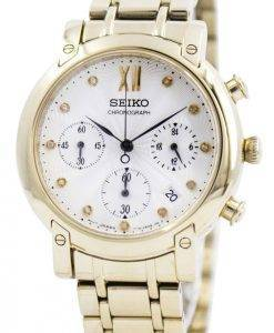 Seiko Chronograph Quartz Crystals SRW836 SRW836P1 SRW836P Womens Watch