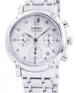 Seiko Chronograph Quartz Crystals SRW837 SRW837P1 SRW837P Womens Watch