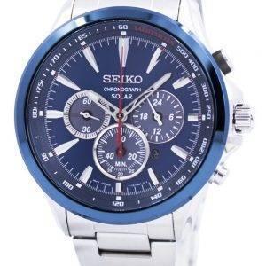 Seiko Solar Chronograph Tachymeter Scale SSC495 SSC495P1 SSC495P Mens Watch