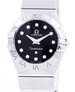 Omega Constellation Quartz Diamond Accent 123.10.24.60.51.001 Womens Watch
