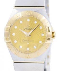 Omega Constellation Quartz Diamond Accent 123.20.27.60.58.001 Womens Watch