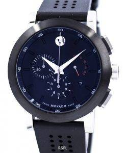Movado Museum Sport Chronograph Swiss Made Quartz 0606545 Mens Watch