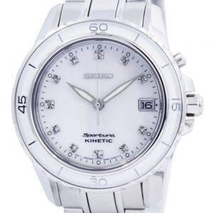 Seiko Sportura Kinetic Diamond Accent SKA881 SKA881P1 SKA881P Womens Watch