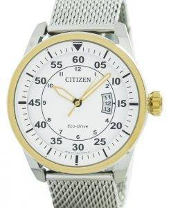 Citizen Aviator Eco-Drive Mesh Band AW1364-54A Men's Watch
