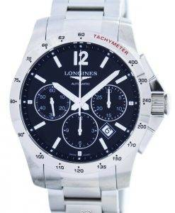 Longines Conquest Automatic Chronograph Tachymeter Scale L2.743.4.56.6 Mens Watch