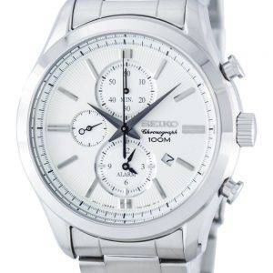 Seiko Chronograph Quartz Alarm SNAF63 SNAF63P1 SNAF63P Men's Watch