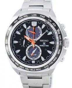 Seiko Prospex Solar World Time Chronograph Power Reserve SSC487 SSC487P1 SSC487P Men's Watch
