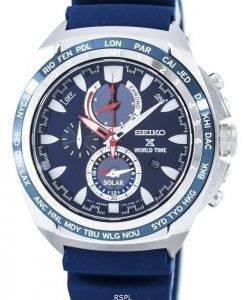 Seiko Prospex Solar World Time Chronograph Power Reserve SSC489 SSC489P1 SSC489P Men's Watch
