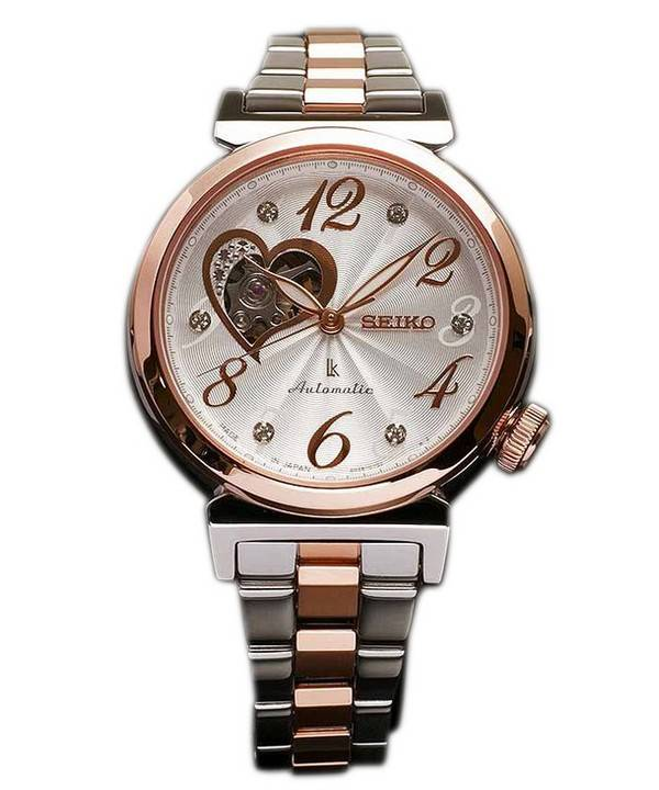 Seiko lukia automatic swarovski crystal japan made ssvm022 womens watch for Watches japan