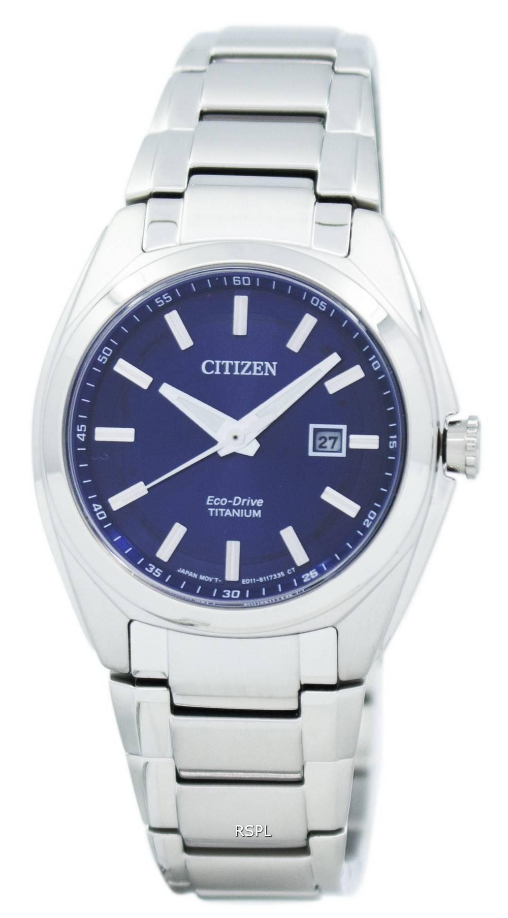citizen eco drive titanium ew2210 53l s