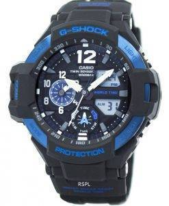 Casio G-Shock GRAVITYMASTER Twin Sensor World Time GA-1100-2B Men's Watch