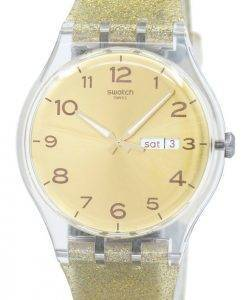 Swatch Originals Golden Sparkle Quartz SUOK704 Unisex Watch