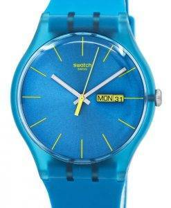 Swatch Originals Turquoise Rebel Quartz SUOL700 Unisex Watch