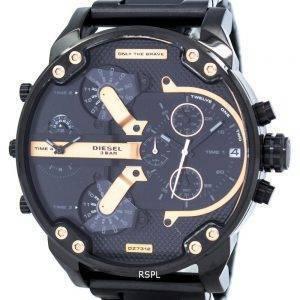 Diesel Mr. Daddy 2.0 Oversized Chronograph Black Dial DZ7312 Mens Watch
