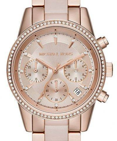 Michael Kors Ritz Chronograph Quartz Crystal Accent MK6307 Women's Watch