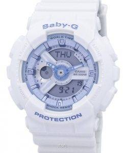 Casio Baby-G Shock Resistant World Time Analog Digital BA-110BE-7A Women's Watch